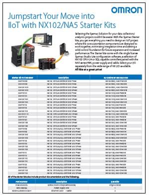 Omron-NX102-Automation-Starter-Kit-Flyer